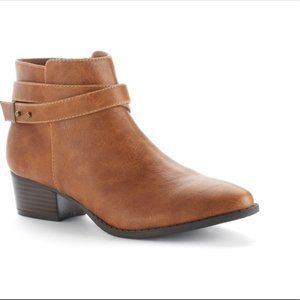 LC Lauren Conrad Belle Strappy Ankle Booties